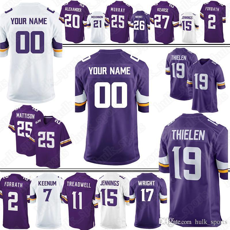 online store 514b7 c509b Minnesota Custom vikings Stefon 14 Diggs jerseys 54 Kendricks 82 Rudolph 97  Griffen 28 Peterson 81 Rudolph 98 Joseph 29 Rhodes jersey