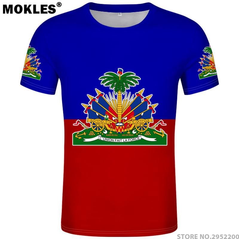 2019 Hot Sale Summer Style Haiti 2019 T-shirt Jersey Style Footbalerl Number All 10 Funny Tee Shirt T-shirts