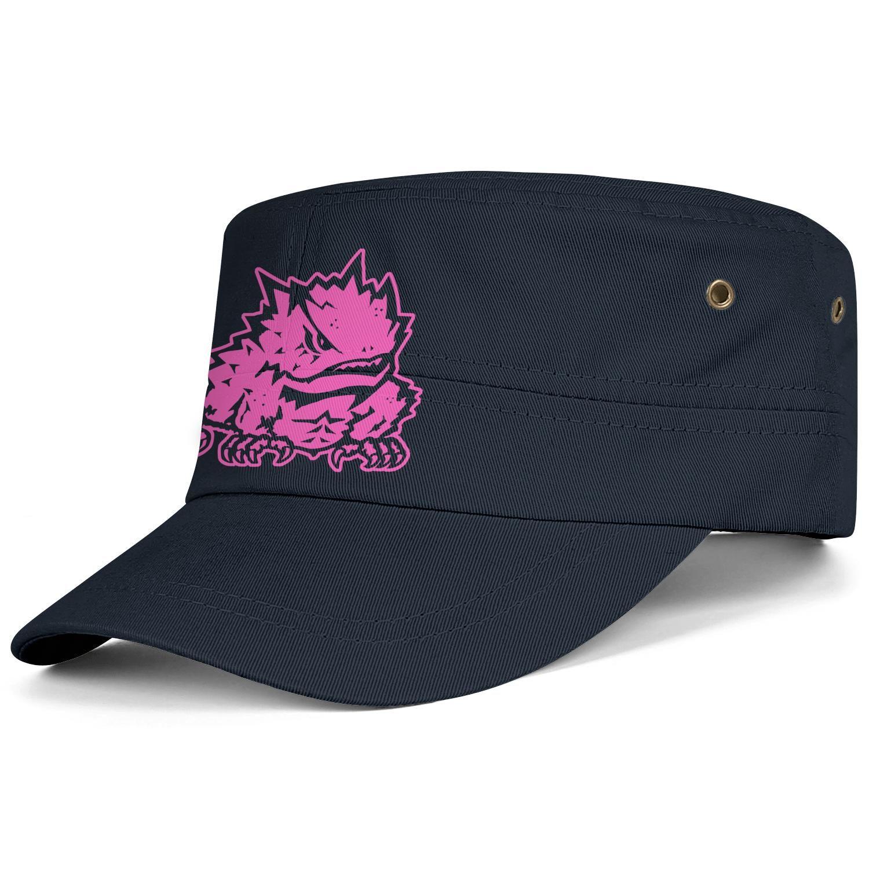 39c84b5a66e1 TCU Horned Frogs fútbol Rosa cáncer de mama logo Negro Hombres Mujeres  Gorra Militar Personalizada Gorra de cadete Gorra militar Sombrero táctico  ...