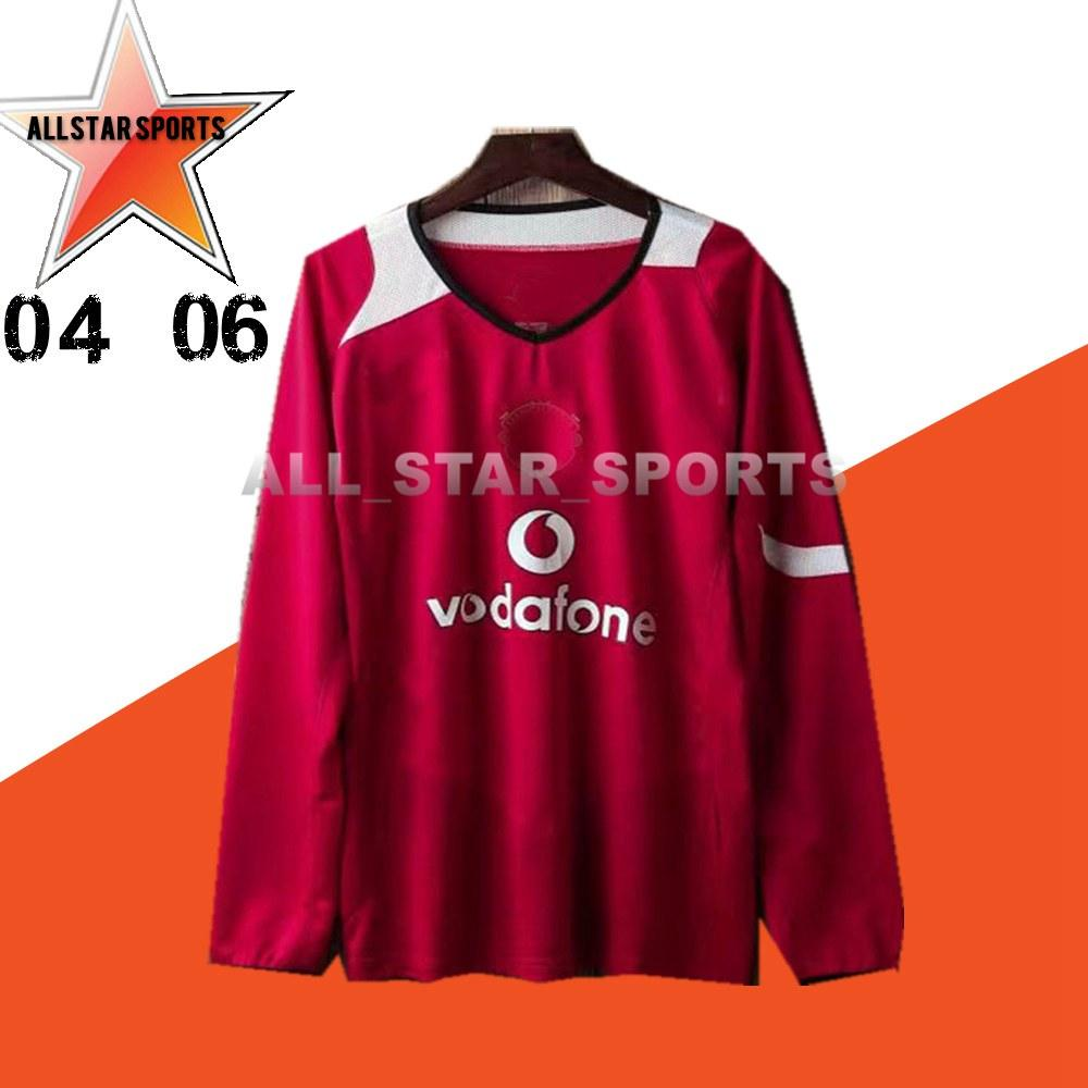 04 06 Retro Long sleeve Soccer Jerseys ROONEY RONALDO 2004 2006 2007 2008 2009 UnITEDS Retro home away football Shirts