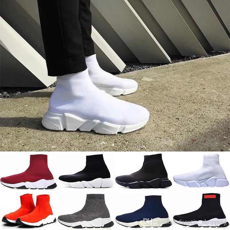 50d6e91d4 Liujiaqihh Designer Sock Shoes Speed Trainer Mens Women Boots Triple ...
