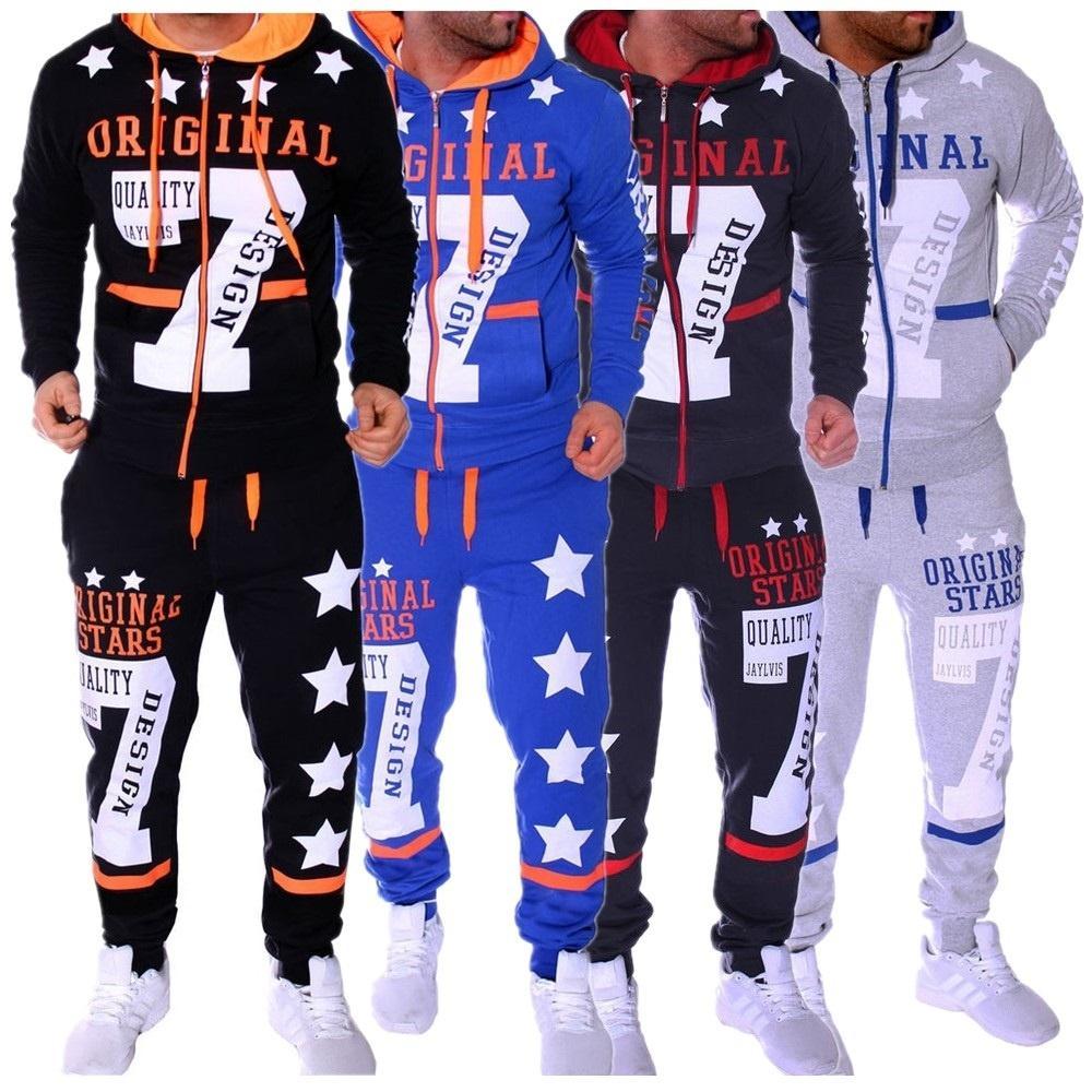 38aac806dc273 Satın Al Erkekler Moda Hoodies Set Takım Elbise Hit Renk Yıldız Kazak Kazak  Erkek Eşofman Set Erkekler Giyim Eşofman, $77.16 | DHgate.Com'da