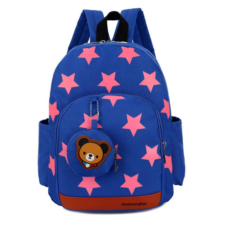 468d9fce3f38 Boys Backpacks For Kindergarten Stars Printing Nylon Children Backpacks  Kids Kindergarten School Bags For Baby Girls Rucksack Purses From  Dongtianli