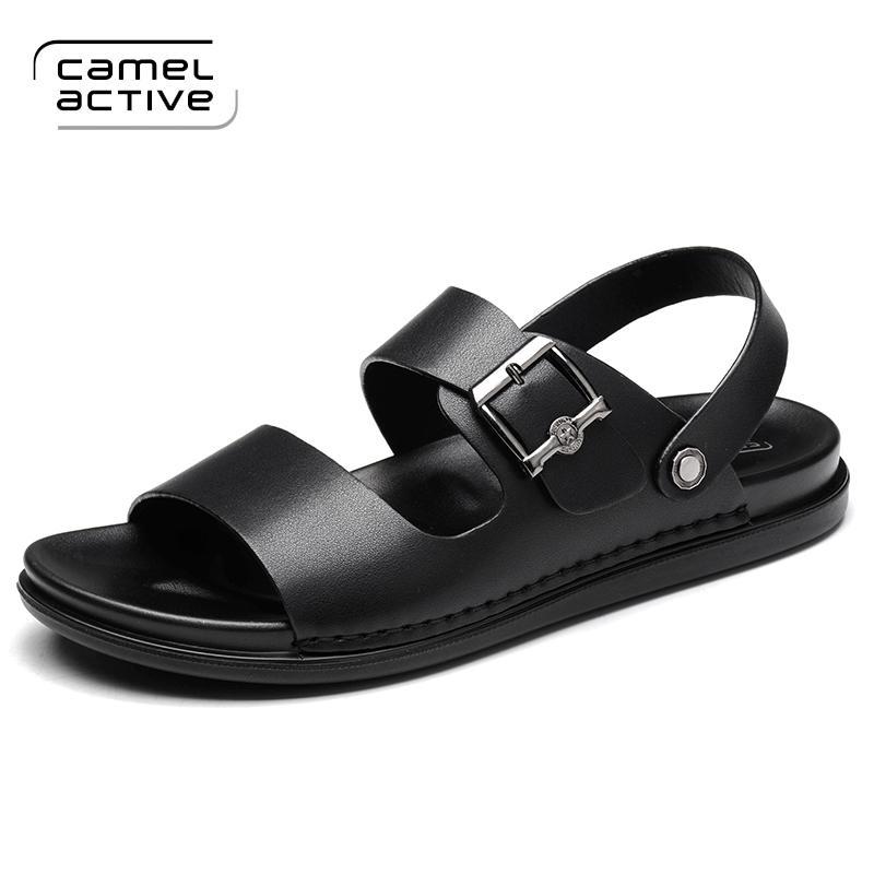 613ce48af651 Camel Active PU Leder Qualität Strand Casual Männer Sandalen für Männer  Schuhe Erwachsene Gehen Sommer Komfortable Sandalen Neue Ankunft