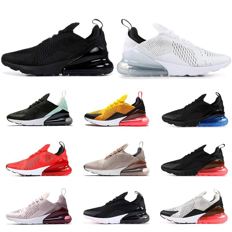 release date: edade 47c4d Compre Nike Air Max 270 Sapatos De Corrida Baratos Para Homens Mulheres  Triplo Preto Branco LUZ ÓCULOS CACTUS Tigre HABANERO RED Mens Trainer Tênis  ...