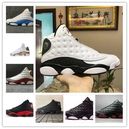 f62a0b344fd5cb 13s Mens Basketball Shoes He Got Game Hyper Royal Black Cat DMP MTLC ...