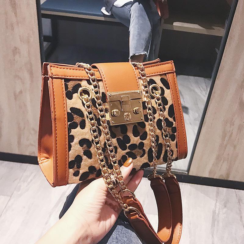 43ecc060a6 2019 Fashion New Women Hardware Lock Handbags Leopard zebra Print ...