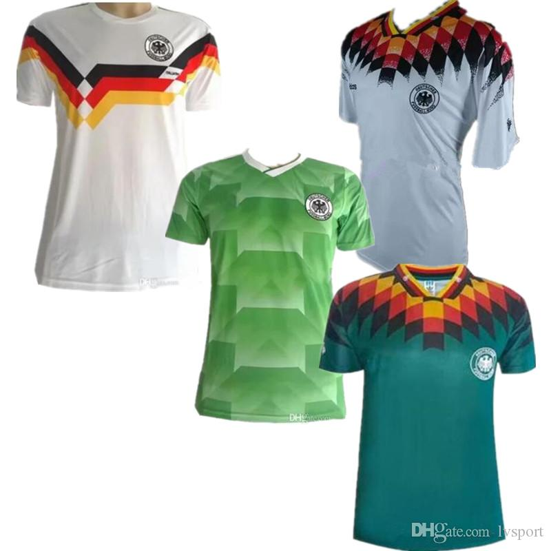 0d7ca5589 2019 1990 1994 1988 Germany Retro Version VINTAGE CLASSIC Soccer Jersey  KLINSMANN 18 Matthias 10 Home Away 2017 2018 Shirts JERSEY From Lvsport