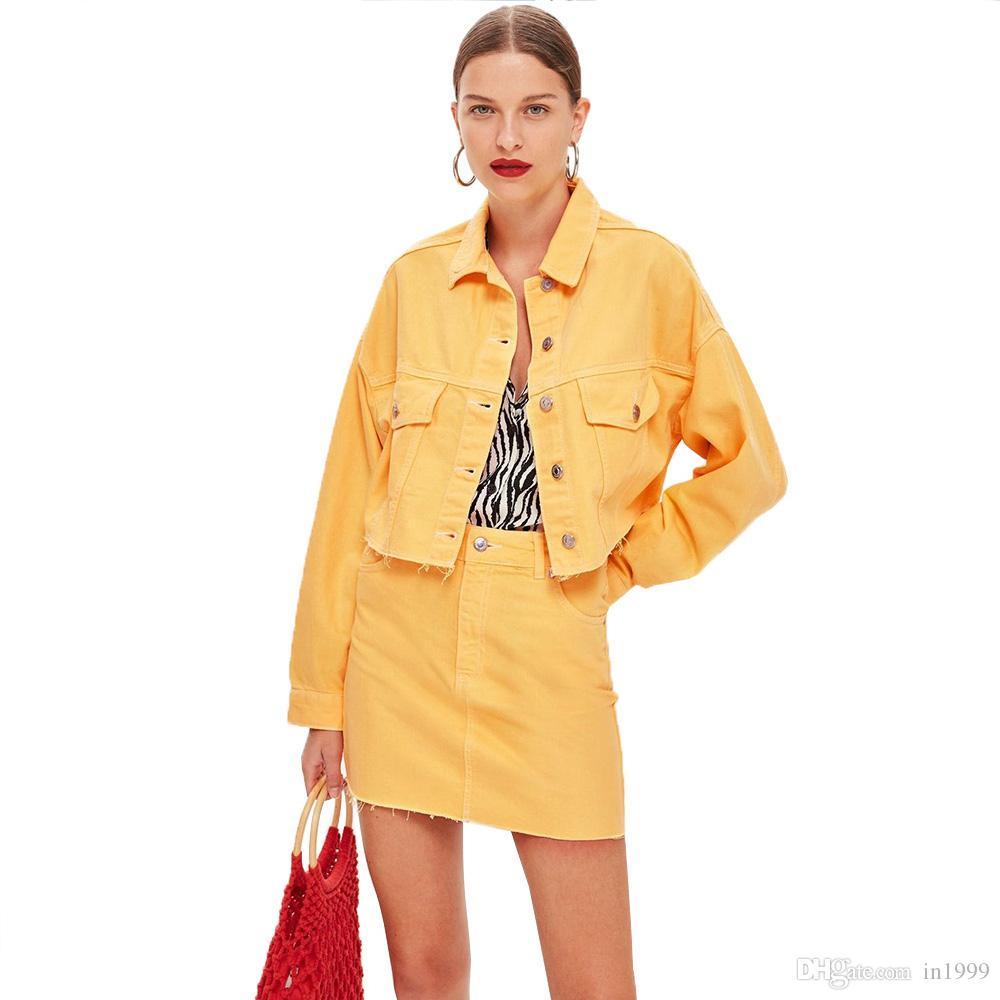 c377013ab Traje Chaqueta Amarillo Mujer