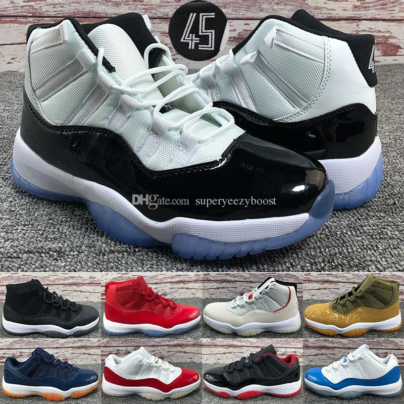 best cheap 1a05b 5f6fe Acquista Platinum Tint Nike Air Jordan 11 Scarpe Da Basket 11s Donna Da Uomo  Concord 45 WIN LIKE 82 96 Midnight Navy UNC Gym Scarpe Da Ginnastica Rosse  ...