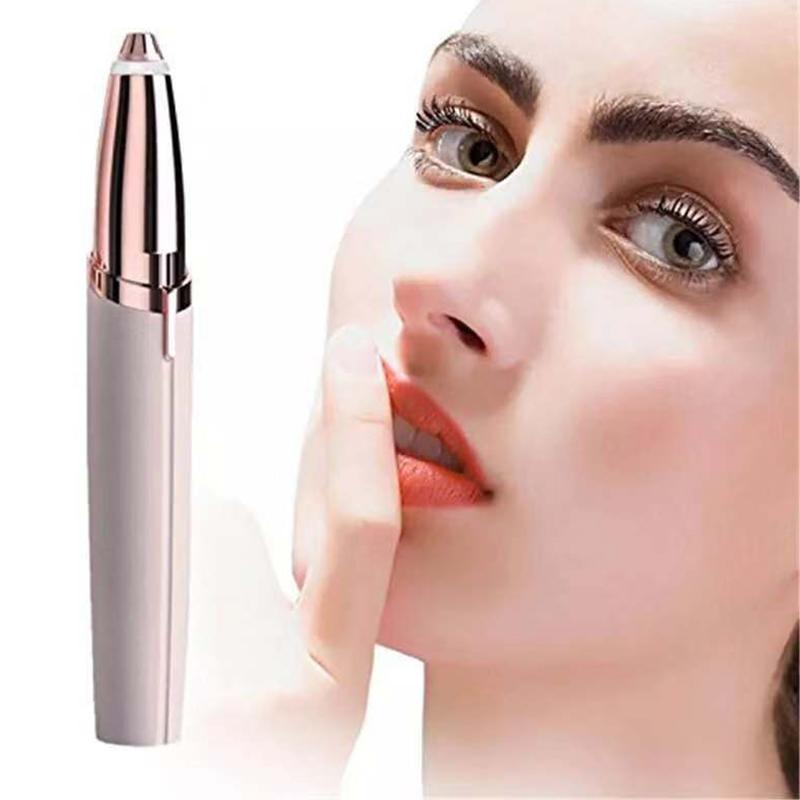 Mini Electric Eyebrow Trim Device Lipstick Shape Epilator Alloy Cutter Head 360 All Round Brow Shave Implement