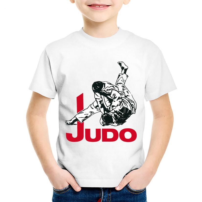 Grosshandel Kinder Mode Druck Judo Lustige T Shirts Kinder Kuhlen
