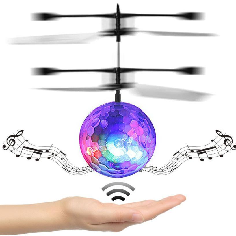 RC Toy EpochAir RC Flying Ball Drone elicottero palla musica da discoteca incorporato con Shinning illuminazione a LED per bambini adolescenti