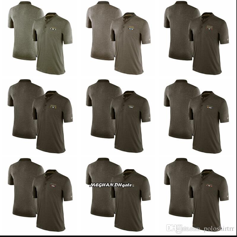 newest bb94a 6f405 Men Dallas Cowboys Panthers Green Bay Packers Chargers Patriots San  Francisco 49ers Salute to Service Sideline Performance Polo - Olive