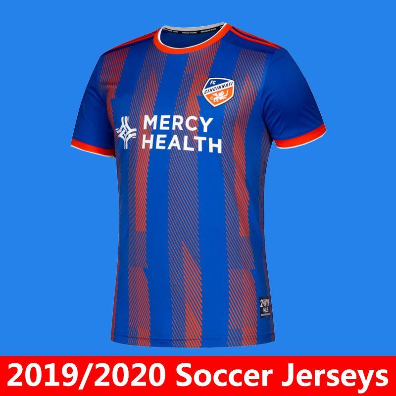 huge selection of fc5b9 7964a 2019/2020 MLS Men's FC Cincinnati home soccer jersey Running Clothing 19 20  MLS GARZA ADI football shirt Running Clothing Camiseta de futbol