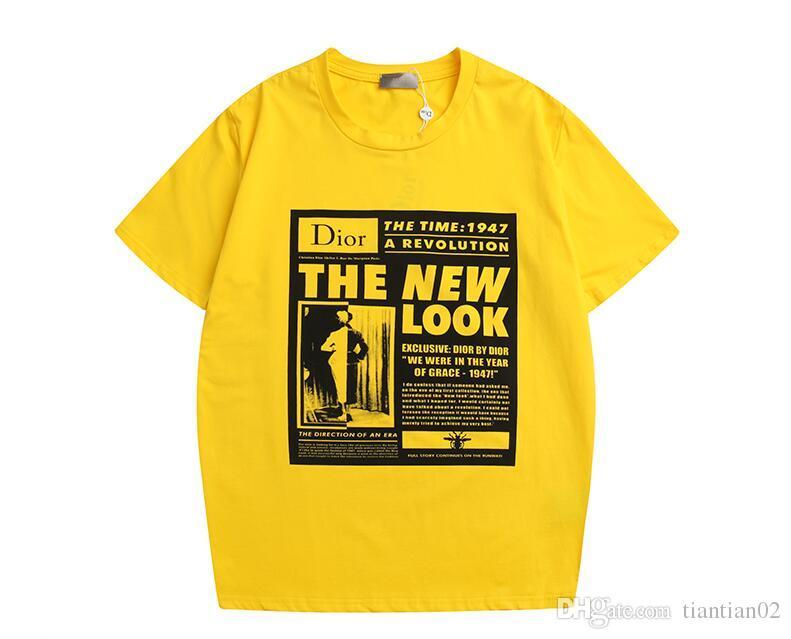 517ec90e6 19ss Luxury Brand Mens Designer T Shirts Casual Loose Hip Hop T Shirt  Cartoon Pig Printing T Shirt Women Sequined Printing Letter Tees Mens Tee  Shirts Rude ...