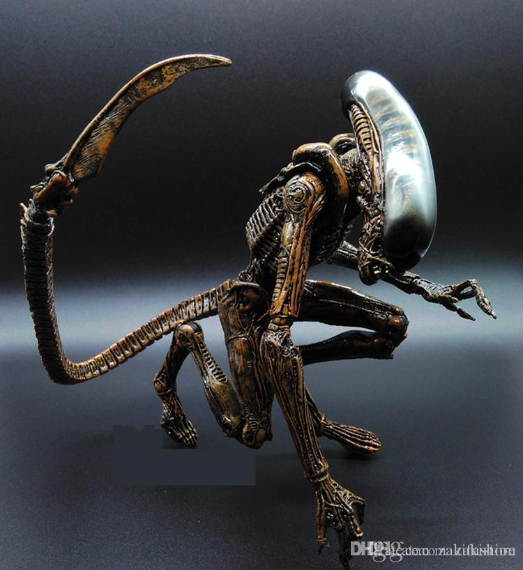 1pc Alien vs Predator AVP ABS 20cm Action Figure Model Collectie Toy MOVIE Film Brinquedos Opp Bag Scar Predator QUEEN