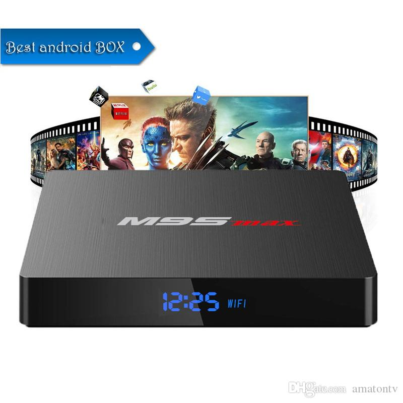 Android TV Boxes 2gb 16gb M9S MAX Amlogic S905W Android 7 1 TV Box IPTV  M9SMAX better than T95 TX3 X96 MINI S905X S905X2 TV Box T95Q
