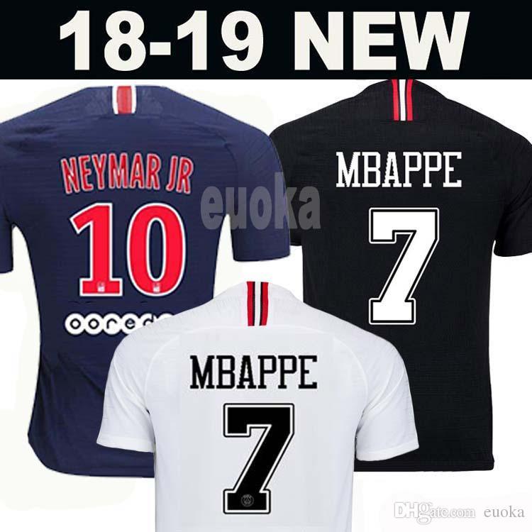 828b974deb57fd Top Tailândia Qualidade AIR PSG JORDAN 3RD Third Camiseta De Fútbol 2019  Camisa Paris Saint Germain NEYMAR JR MBAPPE Soccer Jerseys Camisa Cavani ...