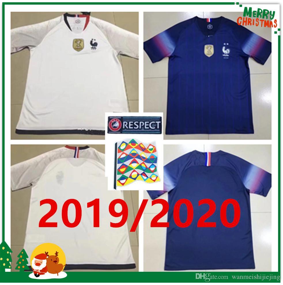 2019 2019 2020 Fr Europe Soccer Jersey Champions1920 2 Stars MBAPPE GIROUD  GRIEZMANN POGBA DEMBELE TOLISSO KANTE MATUID Home Away Football Shirts From  ... eb1b902be