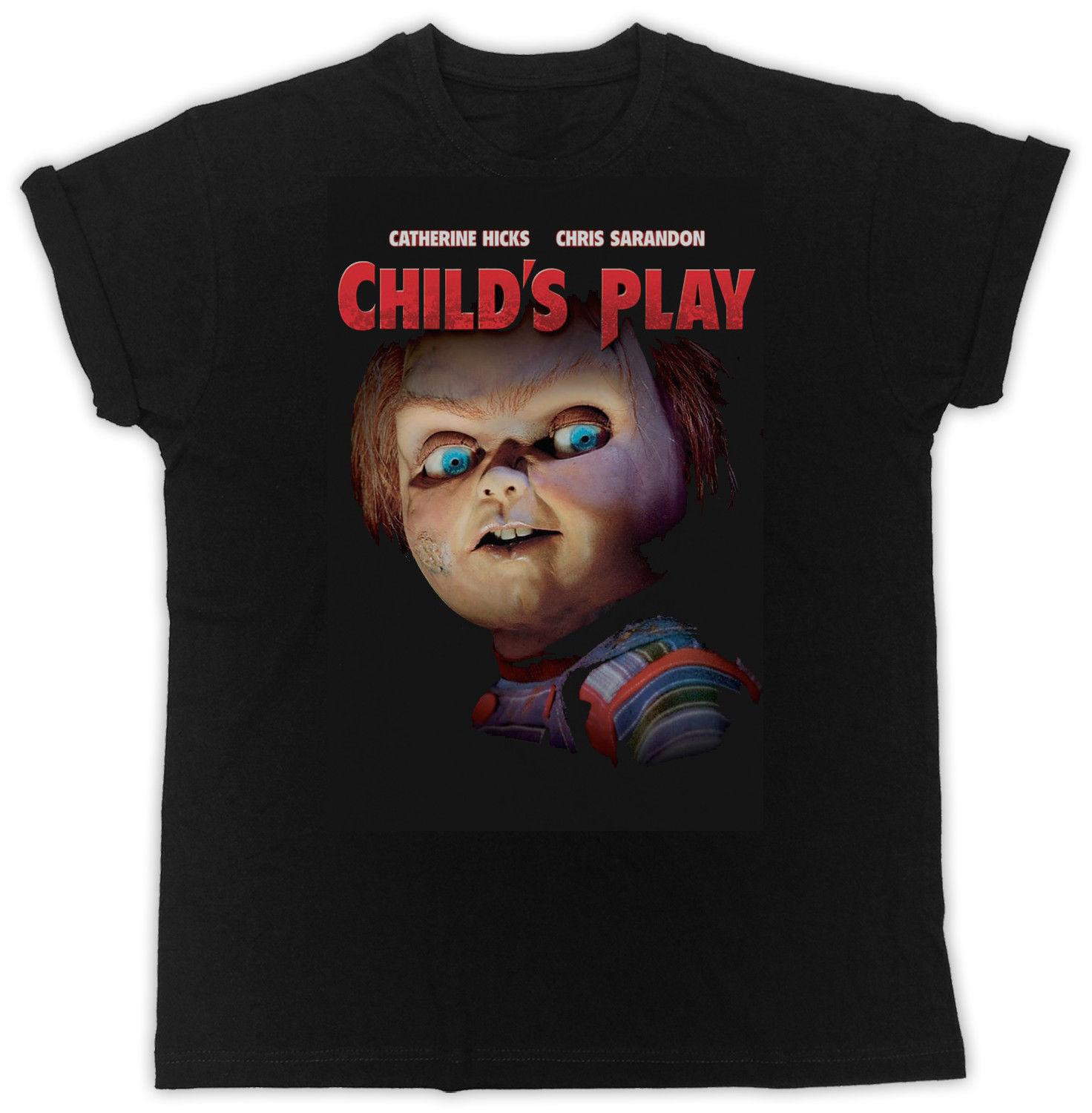2f1dc6c8 COOL FUNNY CHILD'S PLAY MOVIE POSTER TSHIRT UNISEX BLACK MENS T SHIRT  Awesome Shirts Cool T Shirts For Men From Excellent82, $11.48| DHgate.Com