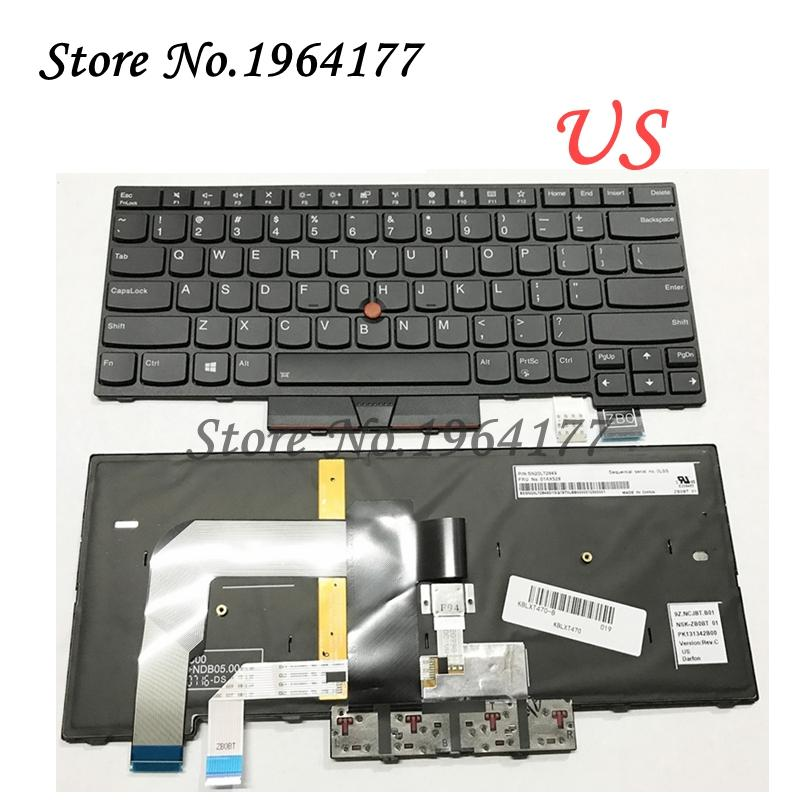 New US English keyboard for Lenovo for Thinkpad T470 T480 keyboard backlit  with backlight