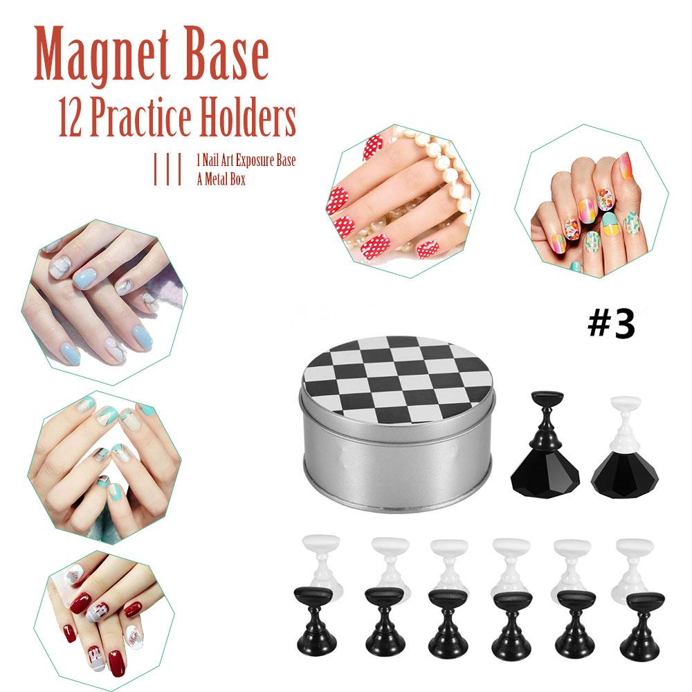 Hot Falsche Nagelhalter Nail art Displayer Magnettafel Gelpoliermittel DIY Stehen Salon Display Halter Maniküre Werkzeug