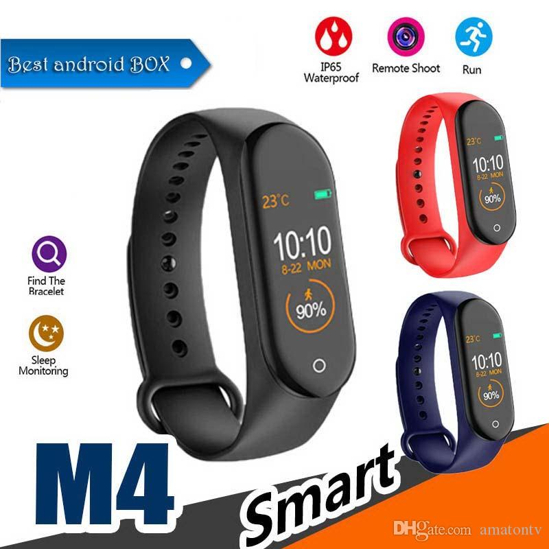 M4 Smart band 4 Heart Rate Blood Pressure Wristbands Sport Smartwatch Monitor Health Fitness Tracker smart Watch Wristband PK M3