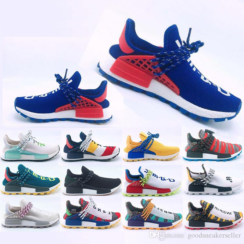 New Original Human Race Hu trail Running shoes Men Women Pharrell Williams Yellow noble ink core Black Designer Sports Trainers Sneakers