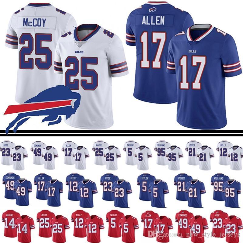 the latest e7f4d da25e Buffalo 17 Josh Allen Bills jersey 25 LeSean McCoy 27 Tre'Davious Blanc 49  Tremaine Edmunds 23 Micah Hyde 99 Marcell Dareus