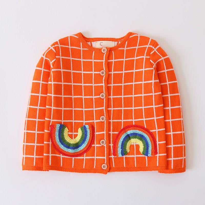 Herbst Winter 2018 Jungen Mädchen Mode Gestrickte Regenbogen Pullover Kinder Weiche Allgleiches Casual Pullover Kinder Kleidung Pullover