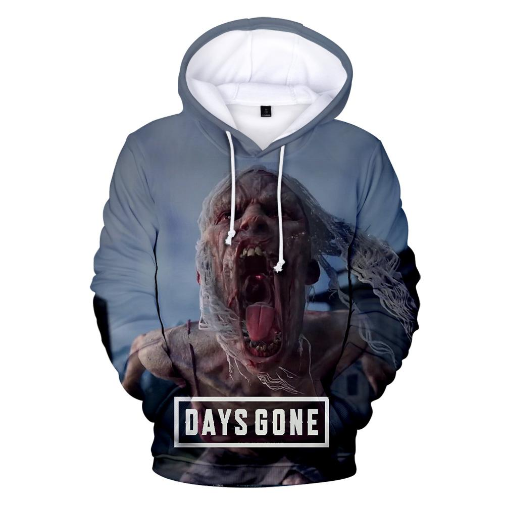 Fantasy Game Zombie Days Gone 3D Hoodies Light Color Casual All-Match Sweatshirts Punk Outwear Chic Tops Cool Coats Warm Clothes