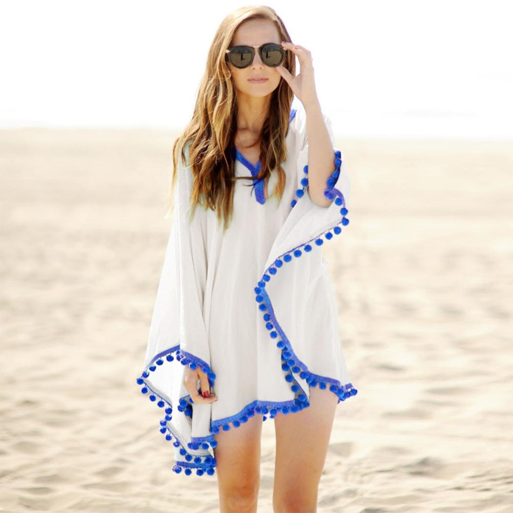 126dcfad7a304 2019 2018 Beach Cotton Cover Ups V Neck Tunic Sarong Bathing Suit Coverups  Bikini Cover Up Women Swimsuit Beachwear From Winwin2013, $37.12 |  DHgate.Com