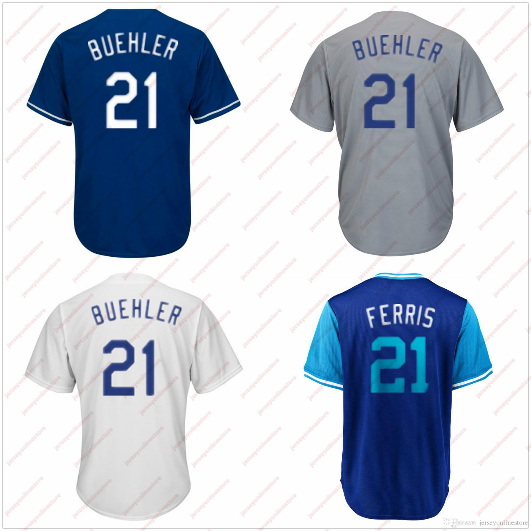 c146d6aeb 2019 Men Women Youth Los Angeles 21 Walker Buehler Jersey Stitched Blue  Gray White FERRIS Players Weekend Baseball Jerseys Sewn On From  Jerseyonlinestore, ...
