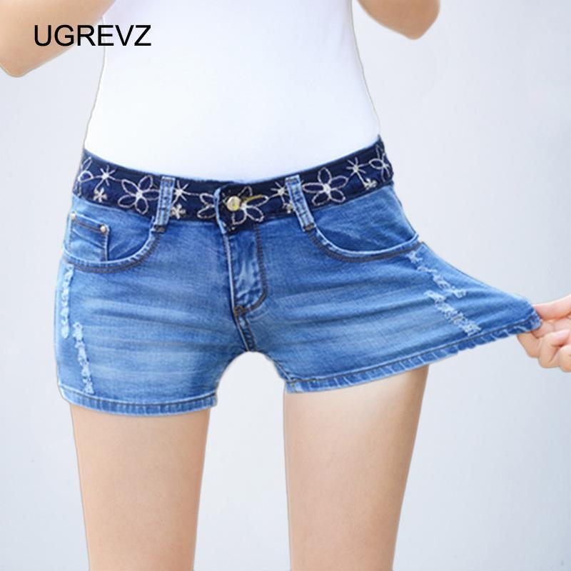 9d94d386f971 2019 UGREVZ Slim Plus Size Stretch Denim Shorts Women Fashion Ripped Shorts  Jeans Ladies Sexy Summer 2018 Mini Fashion Plus From Nihuyg, $23.49    DHgate.Com