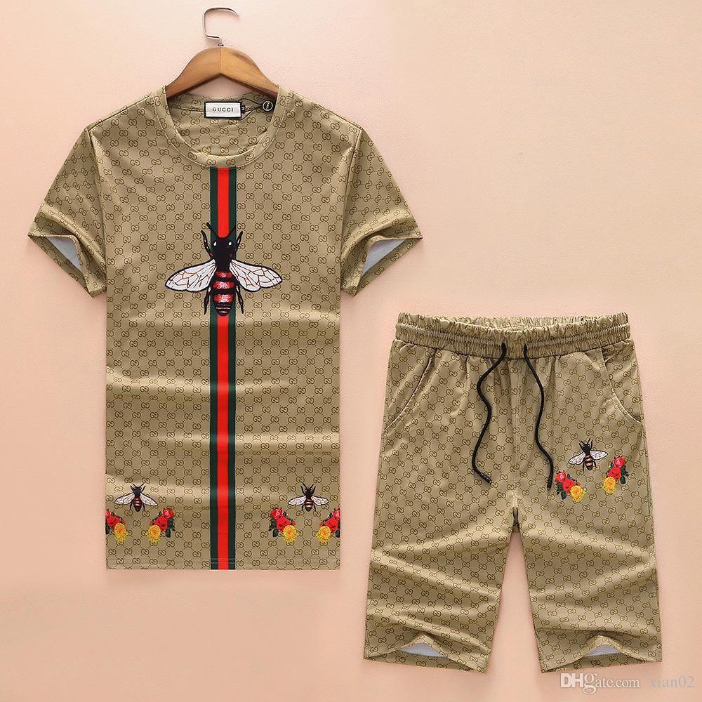8ab5f25fdc 2019 Summer New Short Sleeved T Shirt Suit Hip Hop Men'S Fashion Trend  Designers New Brand Large Size Men'S T Shirt Suit M XXXL Cool T Shirt  Companies 24 ...