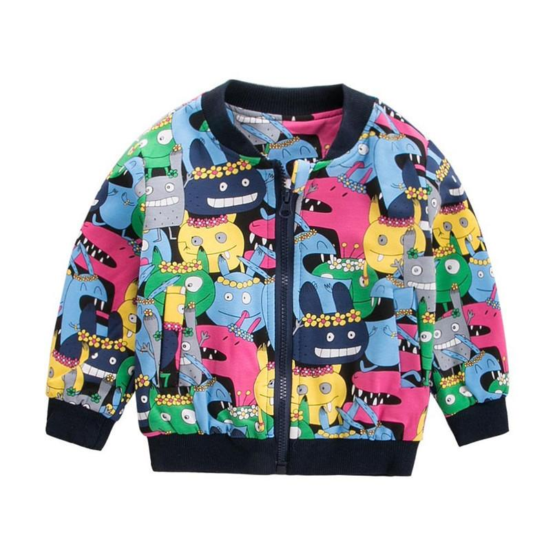 b2e62e336076 Autumn Kids Coat For Girls Toddler Kids Baby Grils Boys Long Sleeve Monster  Printed Zip Coat Baby Outerwear Kids Clothes O19 F Toddler Boys Winter  Jackets ...