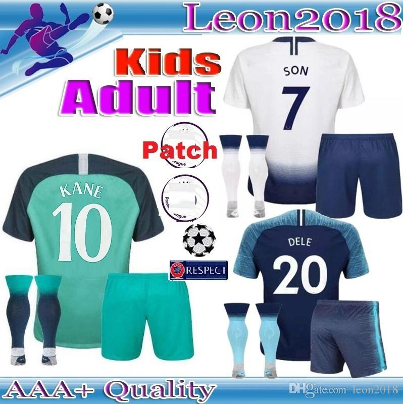 new product 5ec1d f5180 Adult Kids KANE spurs Soccer Jersey 2018 2019 Champions League LUCAS  ERIKSEN DELE SON Men youth tottenham jerseys 18 19 Football kit shirt