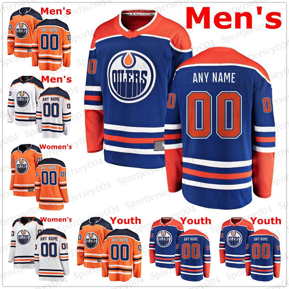 sports shoes fa1b3 6e443 Custom Edmonton Oilers 97 Connor McDavid Jersey 99 Wayne Gretzky 29 Leon  Draisaitl 27 Milan Lucic 93 Ryan Nugent-Hopkins Hockey Jerseys