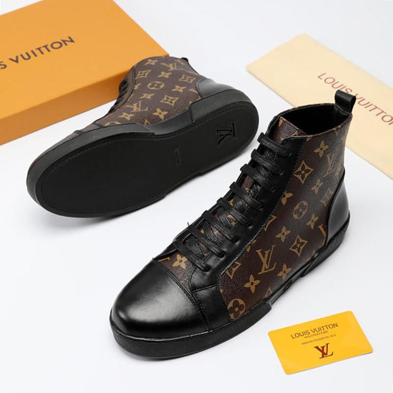 e9065417a Compre Homens Sapatos Botas Casuais Sapatilhas De Alta Top Plataforma De  Alta Qualidade Chaussures De Esporte Pour Hommes 2019 Sapatos Da Moda Para  Homens ...