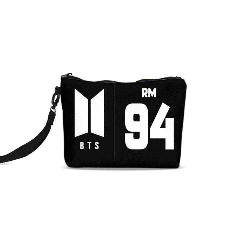 0fa000b3f6 Cosmetic Bags For Women JUNGKOOK JIN BTS Pattern Canvas Makeup Bags  Cosmetic Box Portable Travel Bag Toiletry Case Clutch Tote Cosmetic Bags    Cases Cheap ...