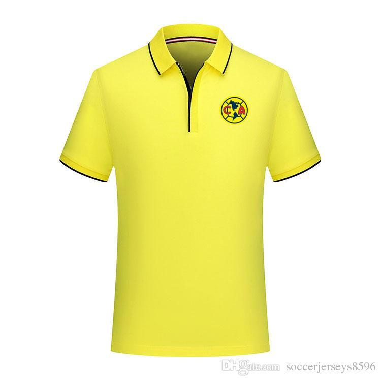 the best attitude b0615 b49fe 2019 LIGA MX Club America soccer Polo shirt soccer Jerseys 19/20 O.PERALTA  C.DOMINGUEZ Club America men Polo shirt football shirts