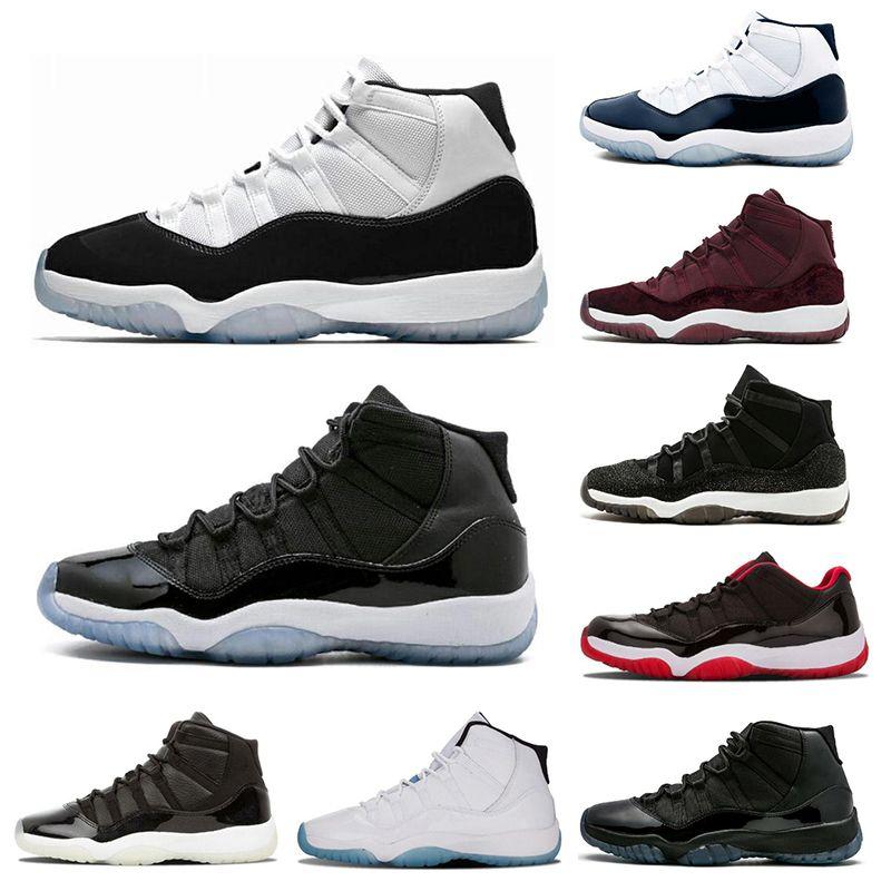 super popular b7401 8fe86 airjordanretro 11 Mens Basketball Shoes Concord 45 Cap and Gown Legend Blue  Platinum Tint Gym Red XI Men Sport Shoes