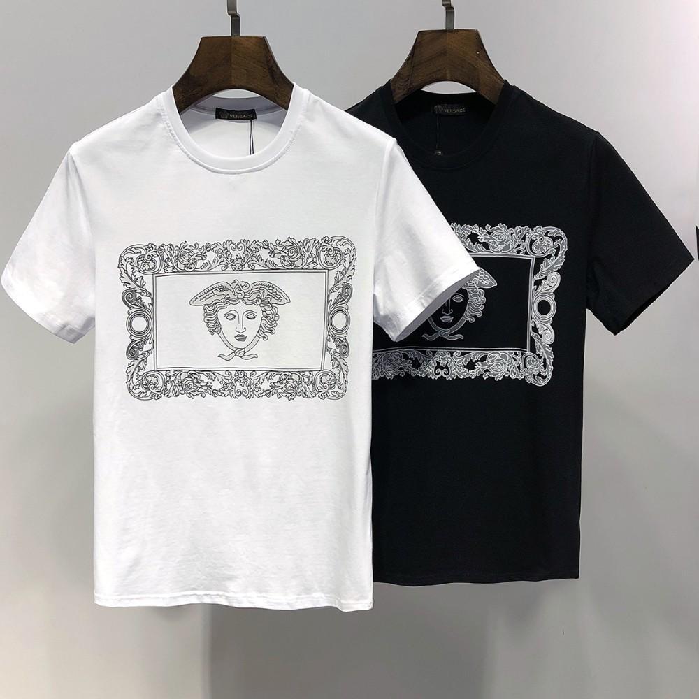 f68c62f87 Compre Ver Verão Novos Homens Em Torno Do Pescoço T Shirt Moda Confortável  Com Impressão De Personagem De Moldura De Tecido De Tecido De Algodão De  Zhou6601 ...
