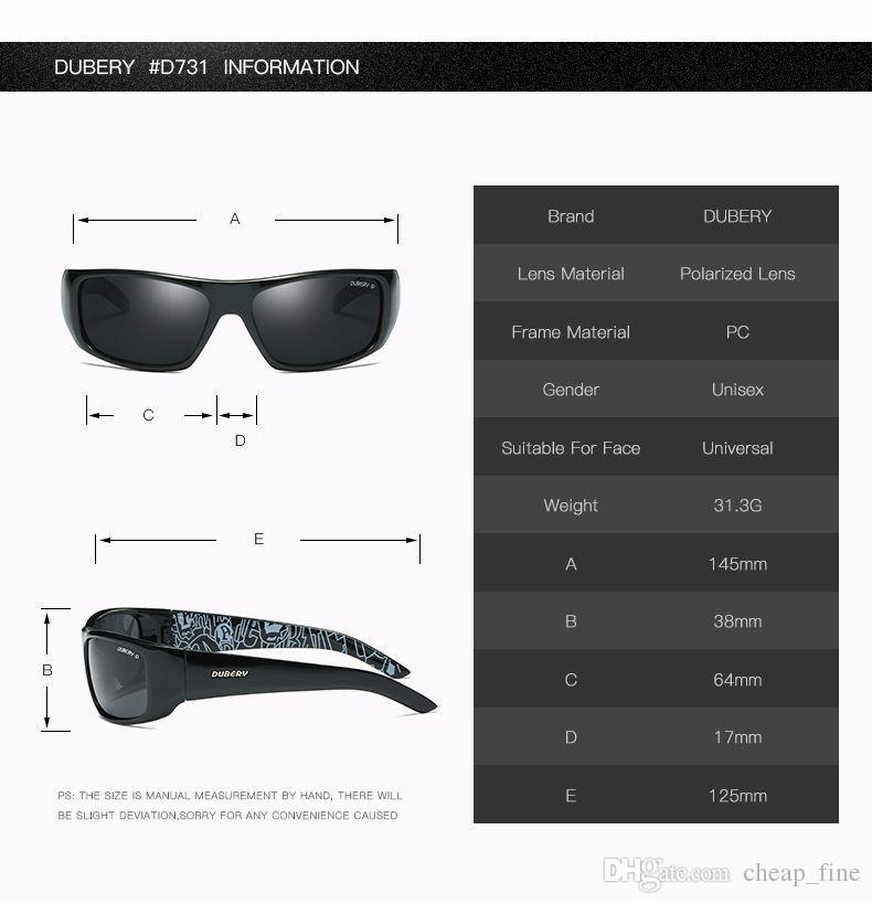 DUBERY Design Men's Glasses Polarized Night Vision Sunglasses Men's Retro Male Sun Glass For Men UV400 Shades D1418