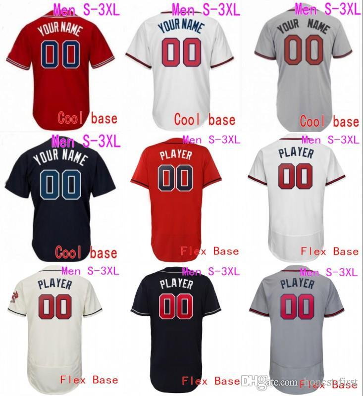buy popular d8bc9 5a0c4 custom Game Atlanta Baseball Jerseys Braves 5 Freddie Freeman 3 Dale Murphy  44 Hank Aaron 10 Chipper Jones 13 Ronald Acuna Jr. Jerseyss