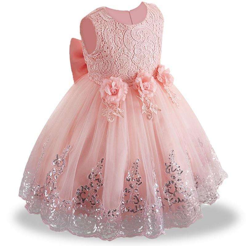 18d6af52cb78e Lace Summer Clothes Newborn Baby Dress Kids Party Wear Princess Costume For  Girl Tutu Infant 1-2 Year Birthday Dresses Q190518