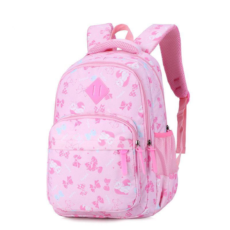 Children School Bags Girls Primary School Backpacks Kids Cartoon Cat ... 575f4115f9214
