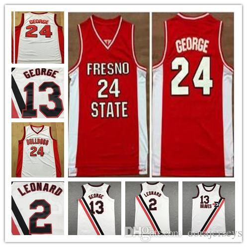 College Ncaa Jersey Paul 13 George Leonard 2 Jerseys Vintage Fresno State Bulldogs George College Jersey 24