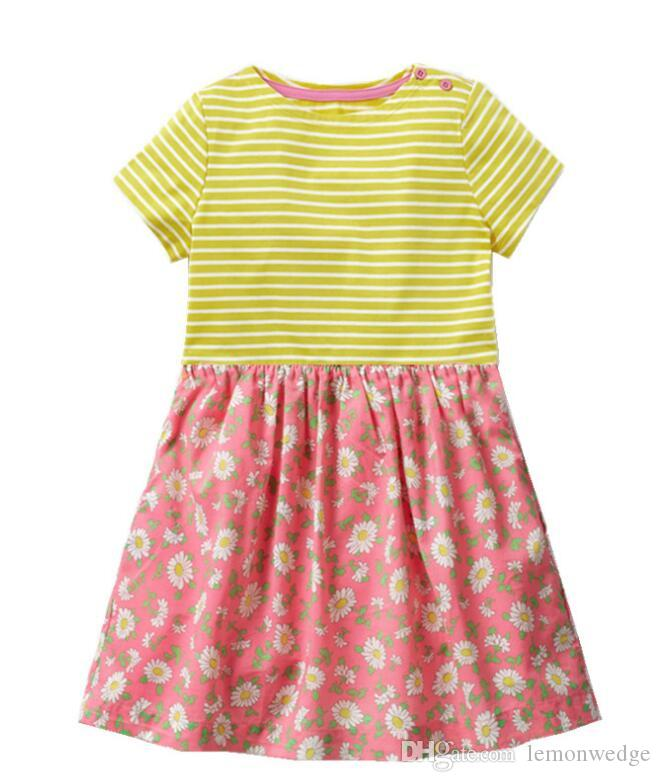 d6a6c6772e050 2019 New Baby Girl s Dress Animal Cotton Holiday Dresses Children Costumes  Summer Clothing for Kids Girls Princess Dress Girls Princess Dress Girls  Dress ...